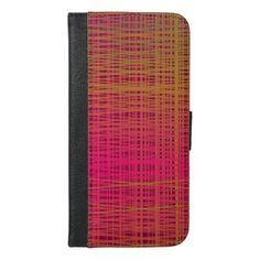 Tartan blush iPhone 6/6s plus wallet case - blush pink gifts unique special diy custom