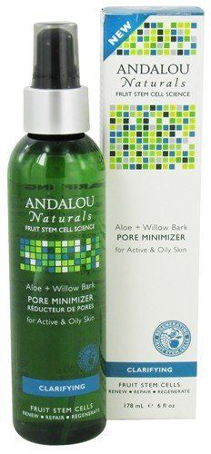 Aloe + Willow Bark Pore Minimizer | Andalou Naturals by Andalou Naturals. $8.08. Serving Size:. Suitable for Vegetarians. 6 Ounces. Gluten Free. For Active + Oily SkinAndalou Naturals Fruit Stem Cell Science renews skin at the cellular level, blending nature and knowledge for visible Clarifying results. Fruit Stem Cell Complex, willow bark extract, and aloe vera polysaccharides remove dull skin cells, debris, and excess oil that can clog pores and increase breakouts. Purifies, r...