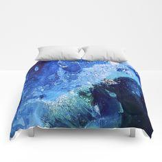 Little Polar Bear, Tiny World Environmental Collection Comforters by ANoelleJay | Society6 @anoellejay @society6