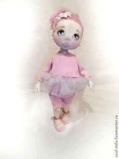 Настя - бледно-розовый,куклы и игрушки,коллекционная кукла,текстильная кукла
