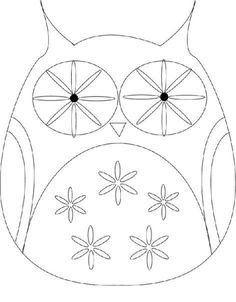 Owl template kids pinterest owl templates owl and - Outline gufo stampabile ...