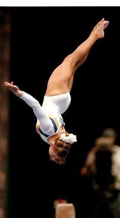 Shannon Miller (United States) on balance beam at the 1996 Atlanta Olympics