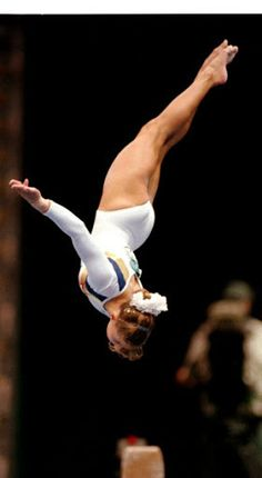 Shannon Miller (United States) on balance beam at the 1996 Atlanta Olympics