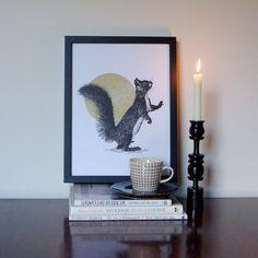 Jen Rowland - Squirrel & Sun Print