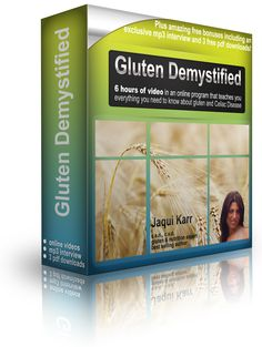 """""""Gluten Demystified"""" by Jaqui Karr - get up to speed by watching a simple video program that brings you all the scientific and medical facts in plain English by one of the world's foremost experts on #gluten and #celiac #coeliac"""