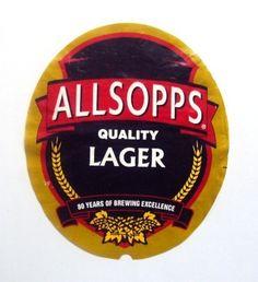 Allsopp Quality Lager Label