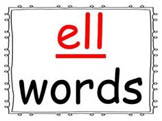 Students practice reading words in the -ell word family as you go through the power point presentation. This is a great activity for introducing a new word family or for rhyming.