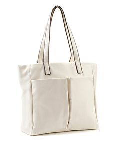 Look what I found on #zulily! Off-White Double-Pocket Tote by Christian Livingston #zulilyfinds