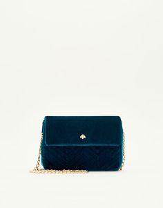Pull&Bear - mujer - accesorios - bolsos - mini bandolera acolchada - azul - 16070214-I2017