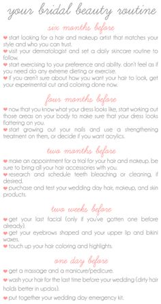Wedding Day Beauty Routine