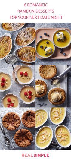 These mini ramekin desserts are perfect for a romantic night in.