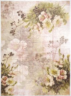 Rice Paper for Decoupage Scrapbook Craft Sheet Flower Wallpaper Multi