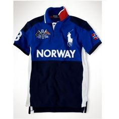 Ralph Lauren NORWAY Signature Big Pony Navy Blue Sporty Polo http://www.