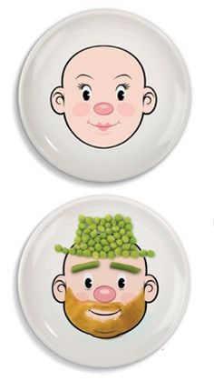 Online kids gifts - Food Face - Ms & Mr Food Face Plates - add a little creativity and fun to your little ones next meal time!