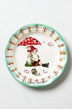 Gnome Plate #anthropologie