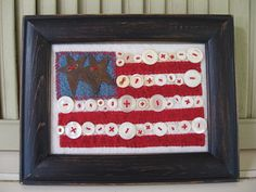 Old Glory American Flag Old Button Flag Wall by chickenhearts, $18.00