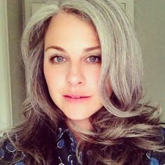 This gal rocks the gray hair! She has incredible tips on keeping the locks looking great.