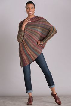 Color Wheel Sweater by Mieko Mintz. With its extraordinary circular shape and . : Color Wheel Sweater by Mieko Mintz. With its extraordinary circular shape and … – knitting pattern Knitting Designs, Knitting Patterns, Crochet Patterns, Trench Coats, Wool Sweaters, Pulls, Blouses For Women, Knitwear, Textiles