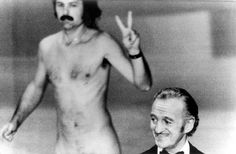 One of the most memorable moments in Academy Awards' history took place on April 2, 1974. As the host David Niven was introducing the night's final presenter, Elizabeth Taylor, a nude streaker ran across Oscar's stage flashing a peace sign.