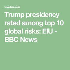 Trump presidency rated among top 10 global risks: EIU - BBC News