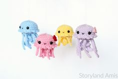 FREE Pattern: Baby Jellyfish Amigurumi – Storyland Amis