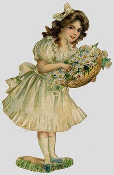 Edwardian Scrap —  Little Bridesmaid, c. 1903  (652x1000)