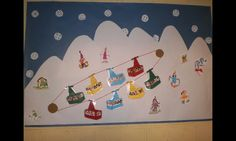 Yhg Decoration, Art For Kids, Skiing, Christmas Crafts, Yellow, Playrooms, Infants, Winter Time, Xmas