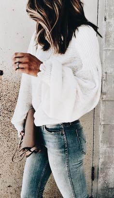 Statement sleeve sweater.