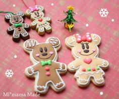 Mickey and Minnie gingerbread mice
