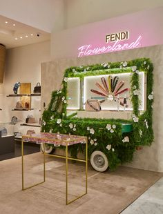 Fendi Flowerland has arrived at Selfridges in London! The just-opened pop-up shop features the Fendi Spring/Summer 2016 Collection and the incredible botanical artwork of Azuma Makoto.