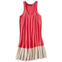 The Webster at Target® Sleeveless Jersey Dress - Mango Berry/Khaki.Opens in a new window