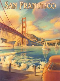 vintage travel poster - San Francisco