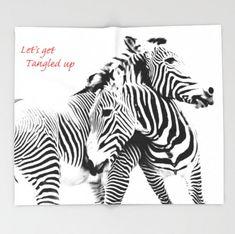 Tangled Up ~ Grevy's Zebras ~ Zebra Blanket ~ Bedroom Decor ~ Black and White Blanket ~ Sofa Throw Blanket ~ Zebra Print Decor ~ Zebra Fleece Blanket ~ Large Decorative Blanket by #NancyJsLifestyle