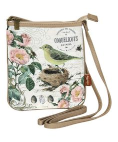 Green & Pink Bird Nest Crossbody Bag #zulily #zulilyfinds