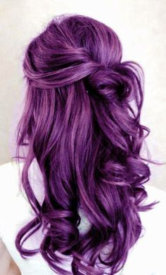 I had purple hair for about 3 days and then it fucked up. Would have loved it to be like this forever <3 - LL