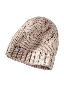 luxe cashmere cable knit hat