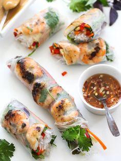 Grilled Shrimp Vietnamese Rolls
