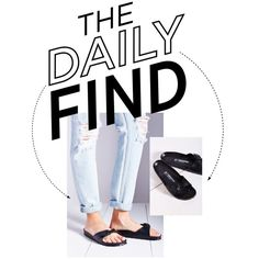 The Daily Find | Birkenstock Slides by socitychic on Polyvore featuring polyvore, fashion, style and Birkenstock