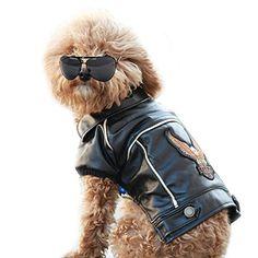 NACOCO(TM) Pu Leather Motorcycle Jacket, Dog Pet Clothes…