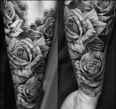 men's black & gray tattoos | black and grey rose tattoos for men