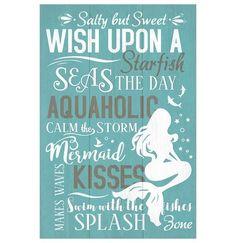 Mermaid Siren With a Baby Fish Swim Ocean Sea Fine 16X20 Vintage Poster FREE S//H