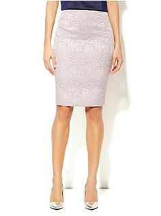 7th Avenue Suiting Collection Pencil Skirt - Brocade from New York & Company