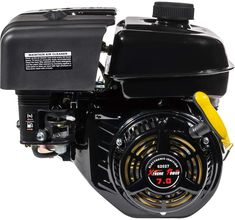 """Engine type: 4-stroke 25° single-cylinder with air-cooled 2 and 5/16 inch length with Keyway 3/16"""" counterclockwise rotation. Compression ratio: 8.5:1 Displacement: 196ml Max power output: 4.8kw/3600rpm"""