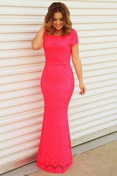 RESTOCK: Flirt With Me Maxi Dress: Neon Pink #shophopes