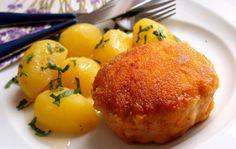 Holandský rezeň s varenými zemiakmi | NejRecept.cz
