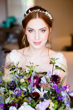 Make Up Bride Bridal Natural Ethereal Purple Wedding http://www.katherineashdown.co.uk/