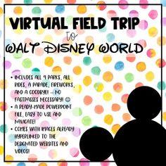 Walt Disney World Virtual Field Trip //. by Orange Blossom Teacher Disney World Tours, Walt Disney World, Disney Day, Disney Trips, Disney Classroom, Classroom Ideas, Summer Camp Themes, Virtual Field Trips, Teaching Technology