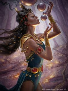 Laochra is the goddess of female warriors and leaders, as well as the unrealized potential in all beings, and embodies the power of a woman. Her symbols are jewelry, the sword, and her sacred animals all big cats. She believes the cat is the perfect example of the grace and power of women.