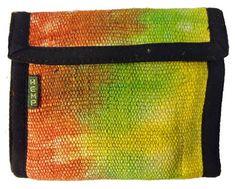 5 Pocket Hemp Tye Dye Bifold Wallet with Velcro Closure Nepal By Ragged Ends Tye Dye, Nepal, Hemp, Wallets, Card Holder, Closure, Pocket, Rolodex, Tie Dye