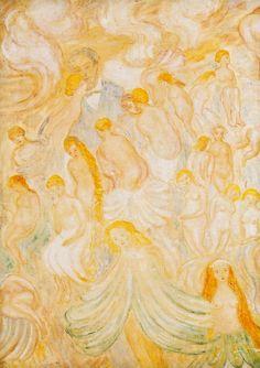 Dionyssos tumbir: dappledwithshadow:   My Whores, James Ensor  1928